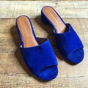 Catherine Malandrino Blue Rhonny Mule Sandals